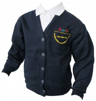 Picture of a navy cardigan