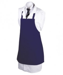 Navy apron on mannequin