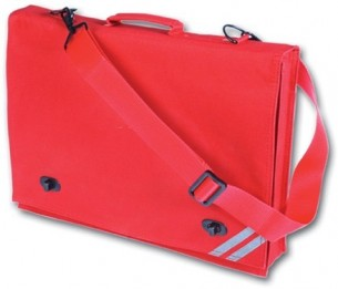 red plain document case