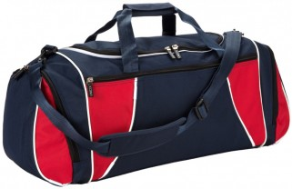 black and red team kit bag